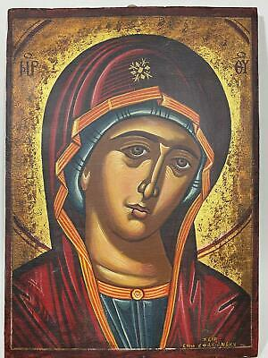 Vtg Religious Saint Holy Icon Gold Painted Wall Art Statue Sculpture Plaque