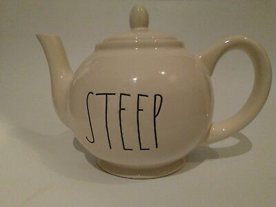 Rae Dunn STEEP Teapot Magenta Tea Pot Farmhouse Artisan Magenta NEW rare LL