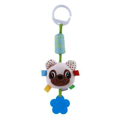 Gift Baby Plush Rabbit Wind Chimes Stroller Study Dog Rattles Bed Bell Toy SS