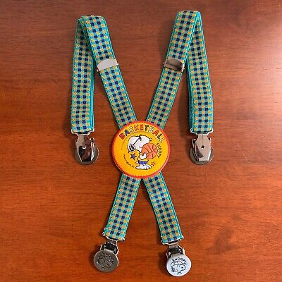 Vintage Snoopy Children's Braces Suspenders Basketball Themed Peanuts Official