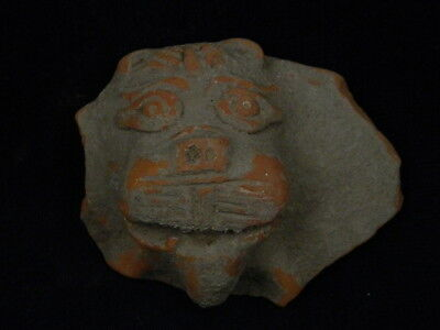 Ancient Teracotta Lion head Bactrian 300 BC #TR5828