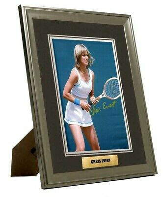 Chris Evert Hand Signed Framed & Mounted  Photo  Great Gift UACC COA