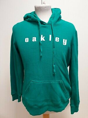 O84 Womens Oakley Green White Emblem Pullover Hoodie Uk M 10