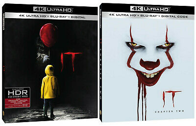 It Chapter One and Chapter Two (4K Ultra HD Blu-ray) Bundle with Slipcovers
