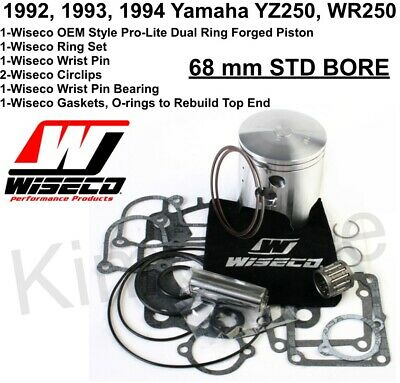 Wiseco Top End Piston Kit 68.00 PK1563 for Yamaha WR250 1992-1994 YZ250