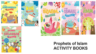 PROPHETS OF ISLAM- ACTIVITY BOOKS - Bundle - Colouring Drawing Islamic Childrens
