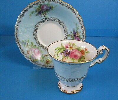 Foley Cabinet Cup & Saucer Deep Dish Saucer Aquamarine Color See Condition