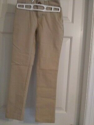 "GIRLS OLD NAVY ""SKINNY"" KHAKI UNIFORM PANTS size 8 NWOT"