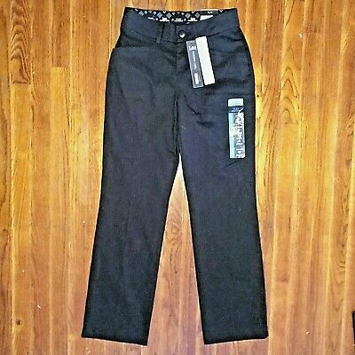 Lee Platinum Label Size 2 Short Pants Trouser Jet Black No Gap Waistband Pockets