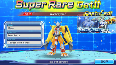 [EN]Digimon ReArise Global Starter Account Wargreymon(Omegamon)+1500Gems Android