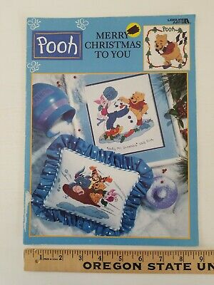 CHRISTMAS Winnie The Pooh Counted Cross Stitch Pattern Booklet COLORED CHARTS LA