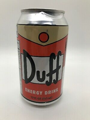 The Simpsons Duff Beer Energy Drink Case of 24 Twelve ounce Cans NEW UNOPENED