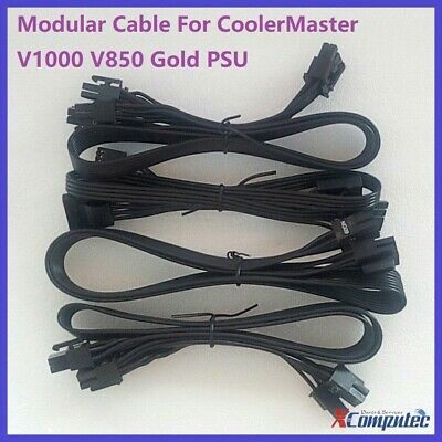 Modular Cable for CoolerMaster V1000 V850 Gold Power Supply Original Flat Cord