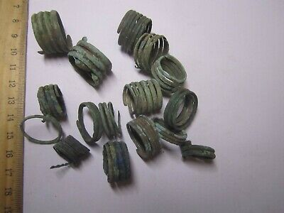 Fragments of bronze jewelry. Archaeology & Antiques. Ancient bronze