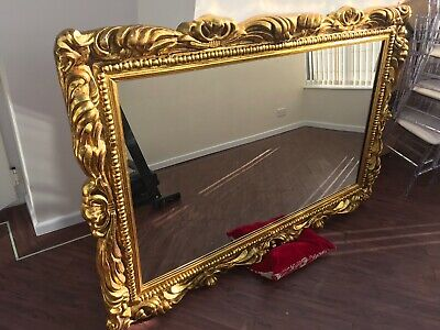 Large Gold Antique Ornate Mirror - Heavy Rectangle 1800 x 1200 x 100mm