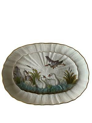 Antique Meissen Porcelain Hand Painted Charger Swan Service 1st Quality