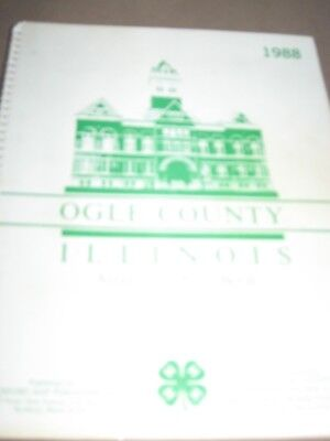 1988 Land Atlas And Plat Book Ogle County Illinois