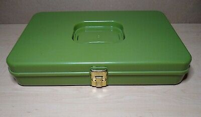 Vintage Wilson Wil-hold Thread & Bobbins Storage Case Organizer Green