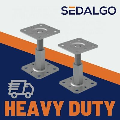 Heavy Duty Galvanised Height Adjustable Elevated Post Base Support