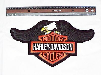 DISCONTINUED DESIGN* HARLEY DAVIDSON DOWN WING EAGLE BAR AND SHIELD VEST PATCH