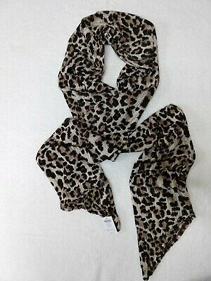 1 NEW WOMEN FASHION OMBRE BACKGROUND WITH LEOPARD SCARF WRAP SHAWL ASF52679