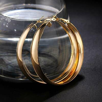 Lever-back Samie Collection 18K Rose Gold Plated Hoop Earrings for Women /& Girls 35mm,45mm