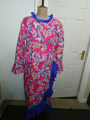 Dames pantomime dress Spanish style worker small size 48 bust