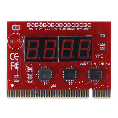 1Pc motherboard led 4-digit diagnostic test PC analyzer network repair tool rr