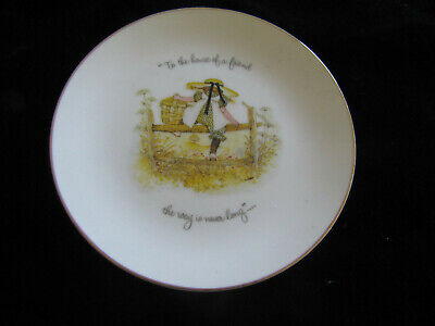 "Vintage Porcelain Holly Hobbie Plate ""To the house of a friend ,,,"" 16cm"