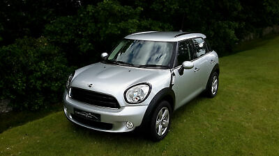 2016 '16' Mini Countryman 1.6 Cooper In Crystal Silver. Only 13,850 Miles.