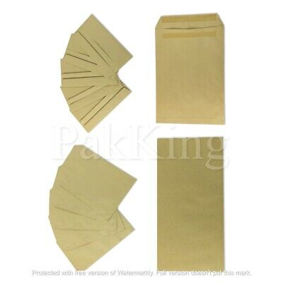 Any Size/Any Qty MANILLA PLAIN PAPER ENVELOPES 80gsm Self Seal Office Letter