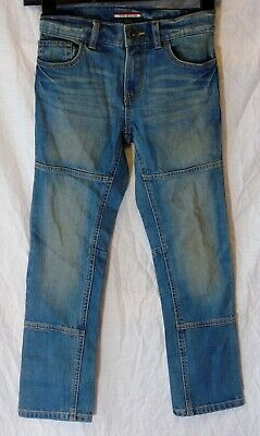 Boys Tommy Hilfiger Mid Blue Whiskered Denim Slim Straight Leg Jeans Age 8 Years