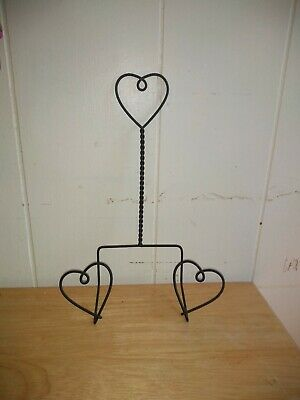 Wrought Iron Heart Shaped Picture Holder Or Plate Display Hanger