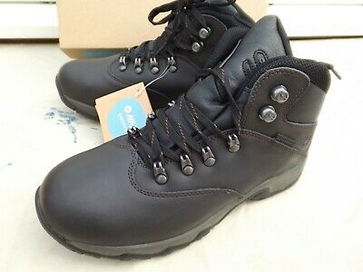 New Hi Tech Ottawa Walking & Hiking Boots,Size 5,Dark Brown Leather,Lace-Up