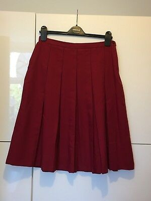City of London School For Girls Harrods Red Long Skirt Medium Winter Uniform