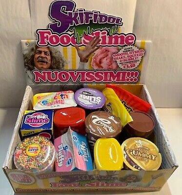 12 Skifidol FOOD SLIME collezione completa SMOOTH HYBRID SHAKE SQUEEZE BUBBLY 🏟