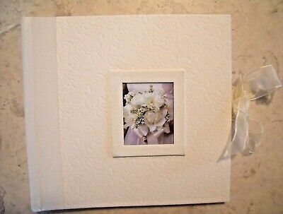 Wedding Photo Album Beige with 100 4 x 6 inch Photo Pockets