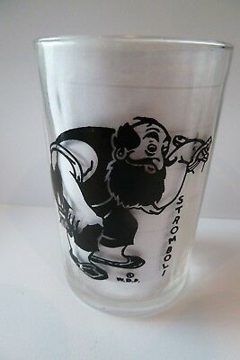 STROMBOY   swanky swig glass  8.5 cm  no chips look at photo for the colour