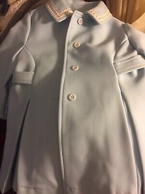 Vintage Girls Easter Dress Coat Pastel Blue Size 3T