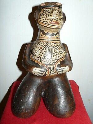 Shipibo Peru Amazon Indian Effigy Male Pottery