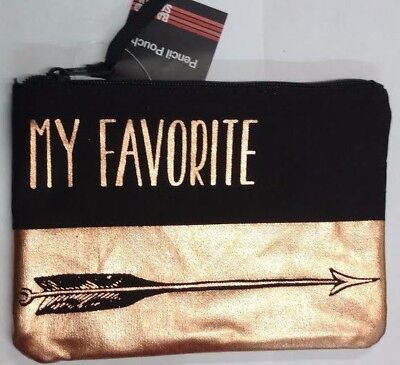 "Girls Back To School Pencil Pouch & Accessory Bag ""My Favorite"""