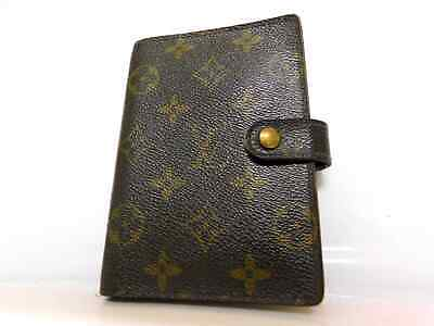 Louis Vuitton Agenda Monogram Card Case Diary Holder Purse Wallet Auth