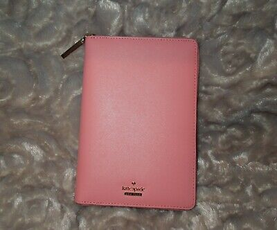 Kate Spade Yucatan Pink Leather Planner Organizer