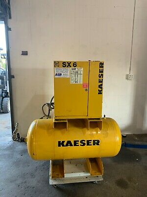 Kaeser SX6 Low hour Rotary Screw Air Compressor 20cfm 208v 3 Phase w/ Tank Dryer