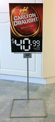 Rare Official Carlton Draught Double Sided Corflute Display Sign & Stand.