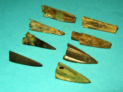 8 pcs Ancient Bronze Arrowheads 5-3 century BC Ancient Greece m6