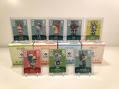 WOLF Amiibo Cards, Animal Crossing (Series 1 2 3 4) Crisp, Unscanned, NA Version