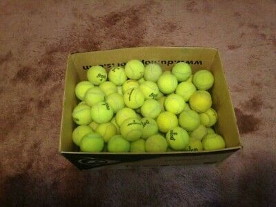 100 Used Tennis Balls - Great for Practice and they make great Dog Chews!!