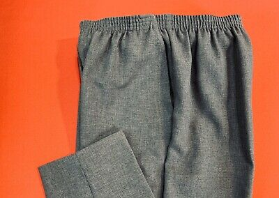 ALFRED  DUNNER ... Pull-On  Polyester  Pants ... Gray ... Size  8