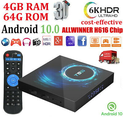 T95 Android 10.0 4+64G 6K Quad Core TV BOX WIFI ALLWINNER 64Bit Media Streamer